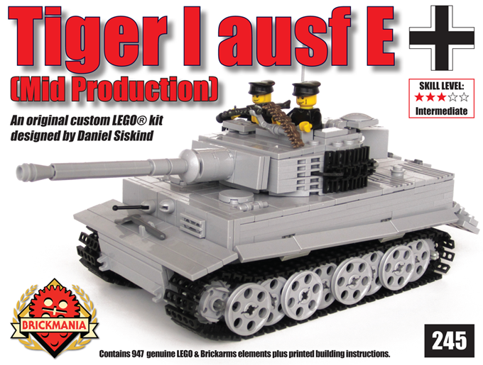 Tiger I Ausf E (Light Gray) Now Shipping | Brickmania Blog