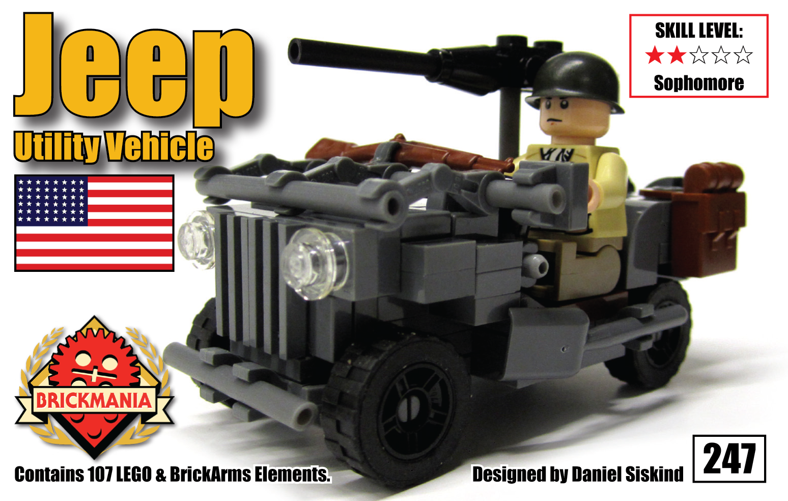 Brickmania's new 1/35 scale Jeep Utility Car Now Available