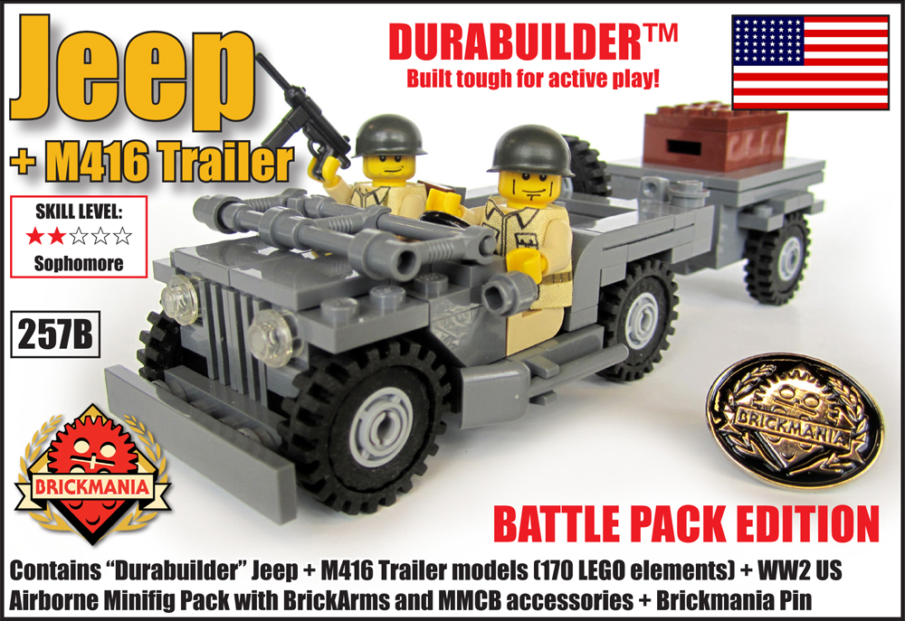 Jeep + M416 Trailer Battle Pack Edition | Brickmania Blog