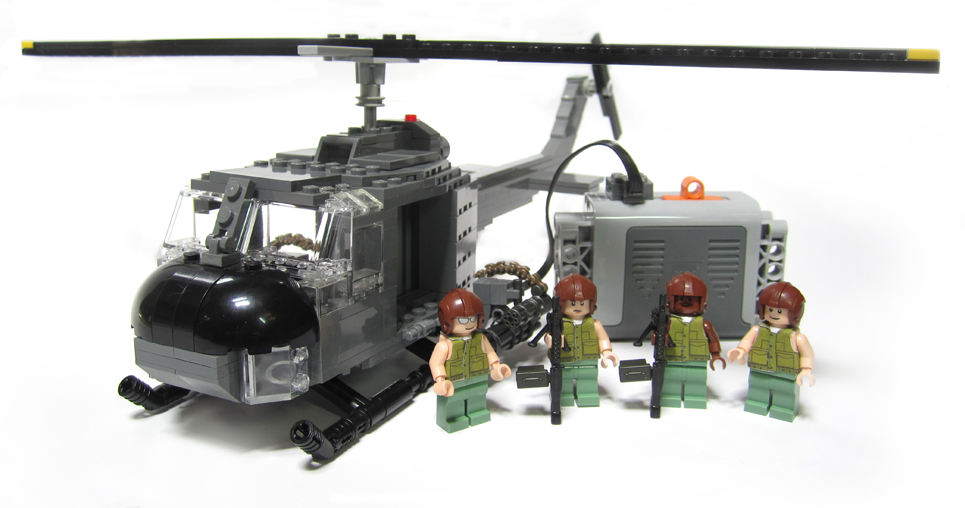 how to make a lego helicopter with guns