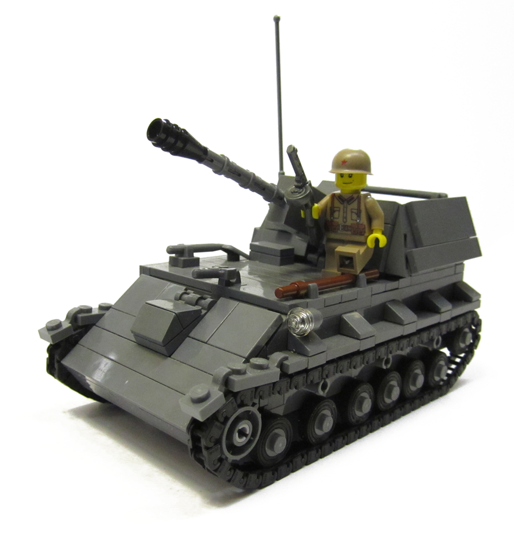 Tracks For Vehicles >> Brickmania Releases SU-76 Self-Propelled Gun Kit ...