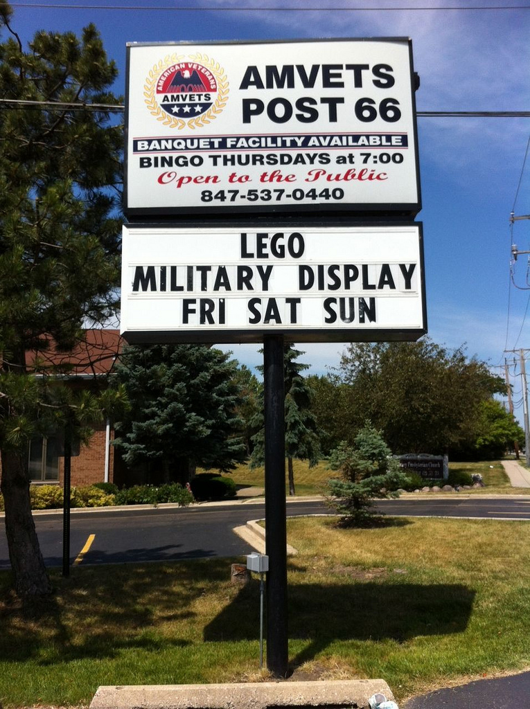 Sign in front of Amvets Post
