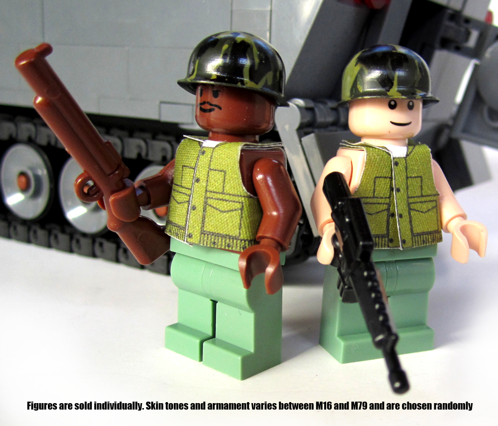 Custom Vietnam War US Soldier Minifigs Available for a Limited Time