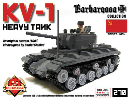 Kv 1 Heavy Tank Kits Now Available Brickmania Blog