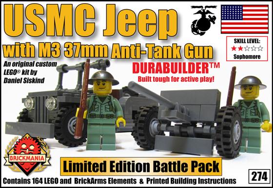 274 Jeep M3 37mm Anti-Tank Gun
