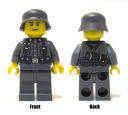German Minifig Dark Gray