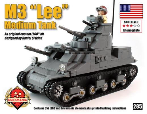 M3 Lee Medium Tank Kit Kickstarter Exclusive Brickmania Blog
