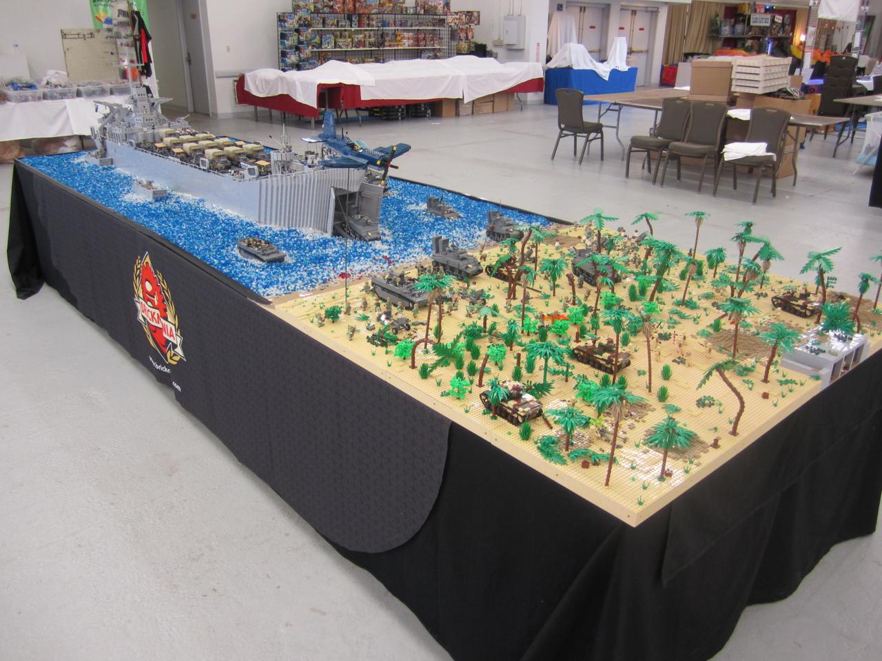 World War II Pacific / Peleliu Landing Diorama at Brick Fair NE ...