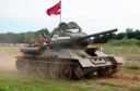 A fully restored T-34/85 was one of many vehicles on display at the tank farm.