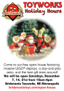 Toyworks Holiday Hours