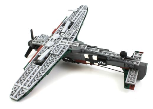 "Messerschmitt Bf 109 ""Kurfürst"" Custom LEGO® Building Kit"