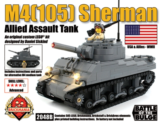 New Shermans Including M4(105) with Brickstuff Light Effects