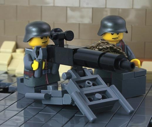 Spandau MG 08 – World War I German Heavy Machine Gun Team ...