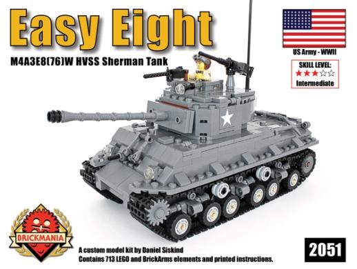 M4a3e876w Easy Eight Sherman Kit Available Now Brickmania Blog