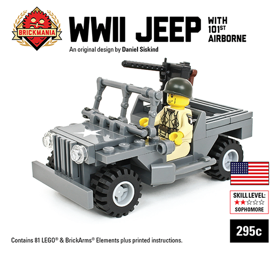 CUSTOM building INSTRUCTION US Army M4 gun tractor to build out of LEGO®