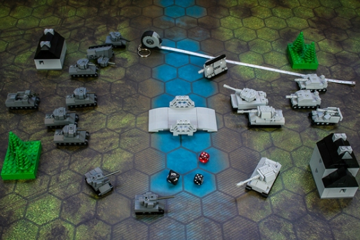 Micro Tank Battle Tabletop Wargame Deluxe Game Set Out