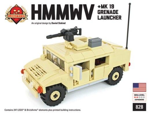 New Updated Hmmwv With Brickarms Mk 19 Grenade Launcher Brickmania