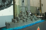 USS Nicholas at Brickmania Warehouse display