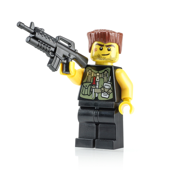 New Modern Minifigure: Dutch with Proto BrickArms Weapon ...