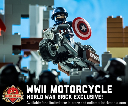 NEW RELEASE: WW2 Motorcycle (World War Brick Edition