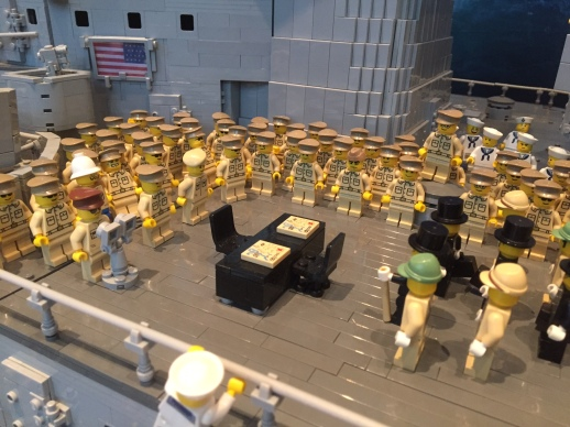 Japanese Surrender Ceremony in LEGO
