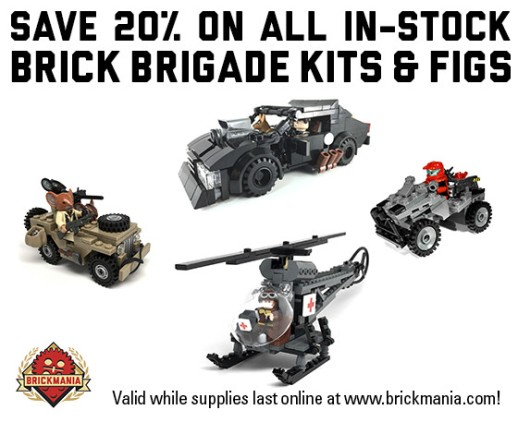 Brick Brigade Toylabs is has Joined Team Brickmania 20% off
