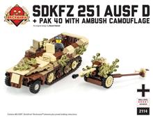 SdKfz 251 with Pak 40 in Ambush Camo
