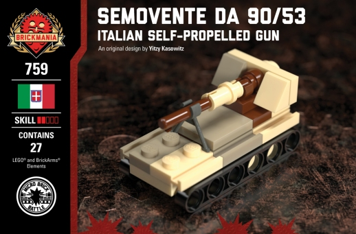 Micro Brick Battle Semovante Da 90/53 - Desert Camo