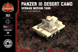Micro Brick Battle - Panzer III - Desert Camo