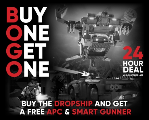 Buy the Dropship and get a free APC and Smart Gunner
