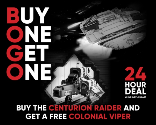 Buy the Centurion Raider and get a FREE Colonial Viper