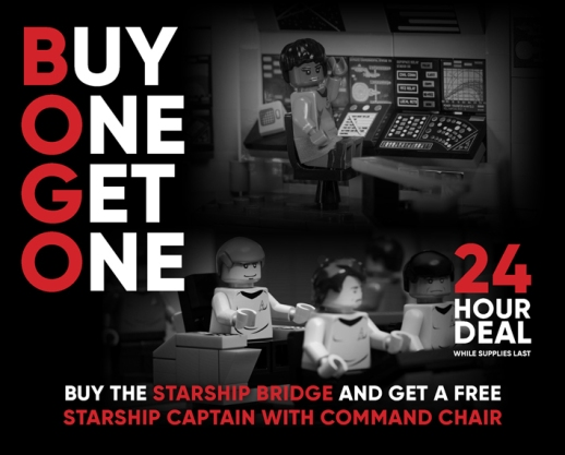 Buy the Starship Bridge and get a FREE Starship Captain with Command Chair