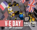 V-E Day Sale through Sunday, May 13th - 15% off with code VEDAY18