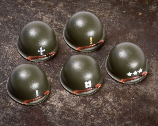M1 Steel Pot Helmets With Ranks
