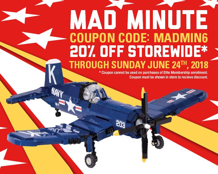 Mad Minute Sale Now Through Sunday Brickmania Blog