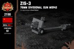 ZiS-3 - 76mm Divisional Gun M1942