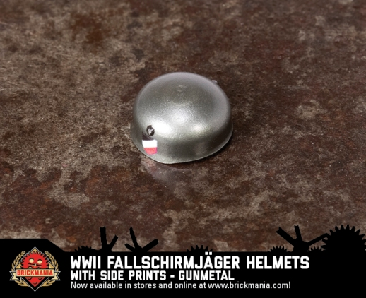 WWII Fallschirmjäger Helmet with Side Prints (Gunmetal)