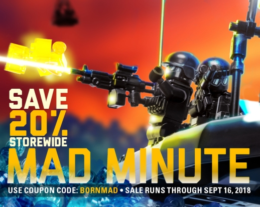 Mad Minute Sale – Use Code BORNMAD to Save 20% On Your Whole Order!