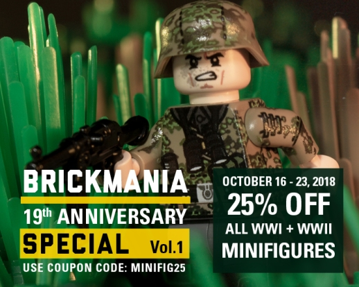 Save 25% On All WW1 and WW2 Minifigs: code MINIFIG25