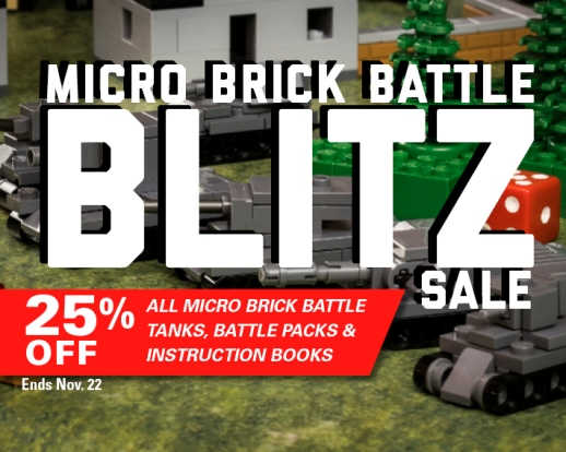 Save 25% On All Micro Brick Battle Tanks, Instruction Books, and Battle Packs Today