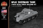 M4A1 Sherman Tank - 1/48th Scale Brick Building Kit