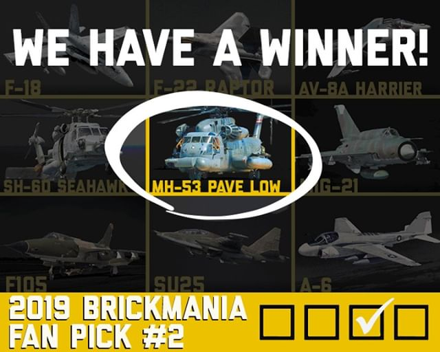 We Have A Winner - Brickmania MH-53 Pave Low