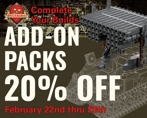 All Brickmania Add-On Packs: 20% Off Right Now