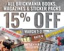All Brickmania Books, Magazines & Sticker Packs: 15% Off