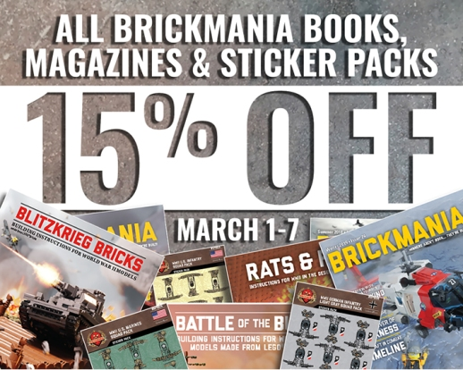 All Brickmania Books, Magazines & Sticker Packs: 15% Off