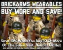 BrickArms Wearables: Buy More and Save!