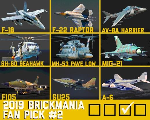 2019 Brickmania Fan Pick #2 - New Modern Aircraft Kit
