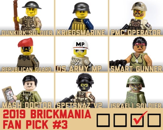 2019 Brickmania Fan Pick #3 - Minifigs