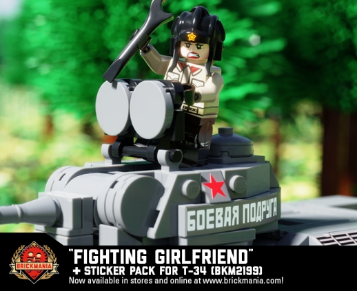 "T-34 Model 1943 ""Fighting Girlfriend"" Add-On Pack with Tank Driver Mariya Oktyabrskaya"