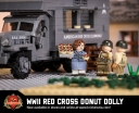 WWII Red Cross Donut Dolly - With Texture Printed Donuts